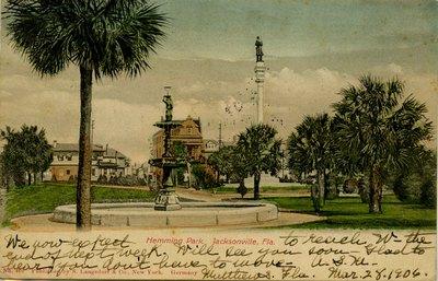 Postcard: Hemming Park, Jacksonville, Florida