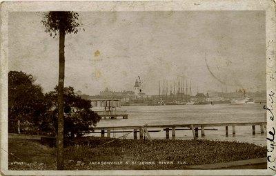 Postcard: Riverfront of Jacksonville, Florida