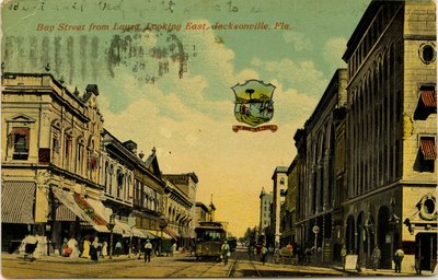 Postcard: Bay Street from Laura looking East, Jacksonville, Florida