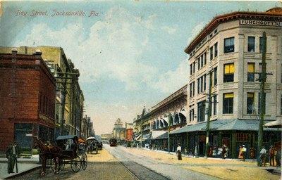 Postcard: Bay Street, Jacksonville, Florida