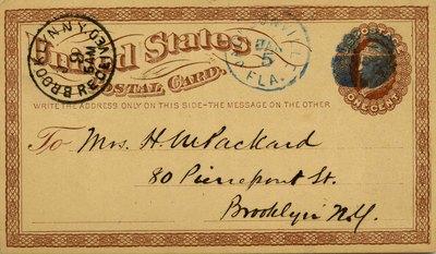 Postcard: United States Postal Card, Jacksonville, Florida