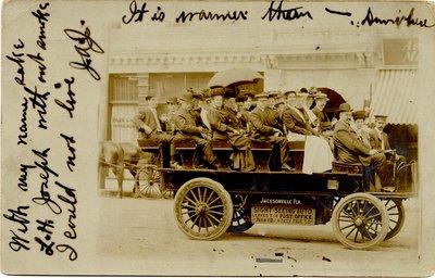 Postcard: Tourist Sightseeing Automobile, Jacksonville, Florida