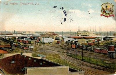 Postcard: the Viaduct, Jacksonville, Florida