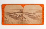 Stereograph Card: Railroad Depot and Lumber Yards, Popular Series, American Views, Jacksonville, Florida; 1880-1900's