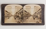 Stereograph Card: Forsyth-a Business Street of Jacksonville, Florida; 1880-1900's
