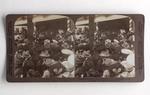Stereograph Card: President Roosevelt leaving Seminole Club, Jacksonville, Florida; 1905