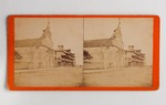 Stereograph Card: Catholic Cathedral and the St. Augustine Hotel, St Augustine, Florida; Undated