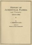 History of Jacksonville, Florida and Vicinity 1513 to 1924