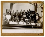 Photograph: Group Portrait, Unidentified People In A Church by R. Lee Thomas