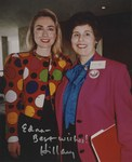 Signed Photograph of Hillary Clinton and Dr. Edna L. Saffy