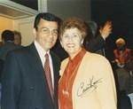 Photograph of Casey Kasem and Dr. Edna L. Saffy