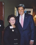 Photograph of John Kerry and Dr. Edna L. Saffy