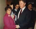 Photograph: Bill Clinton and Dr. Edna L. Saffy by Edna Louise Saffy