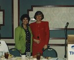 Photograph: Edna L. Saffy and Pat Schroeder