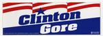 Clinton Gore Election Sticker 1992 10X4in
