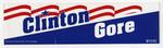 Clinton Gore Election Sticker 1992 12X4in
