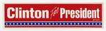 Clinton For President sticker