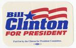 Bill Clinton for President sticker 4X2in