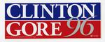 Clinton Gore campaign sticker 1996