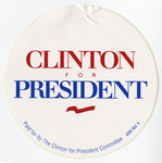 Clinton for President circle sticker