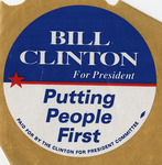 Bill Clinton for President, putting people first sticker