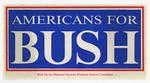 Americans for Bush campaign sticker