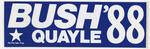 Bush Quayle '88 campaign sticker