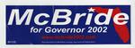 McBride for Governor 2002 Sticker