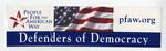 Defenders of Democracy Sticker