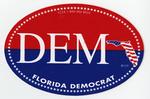 Florida Democrat circle sticker