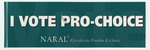 I Vote Pro-Choice sticker