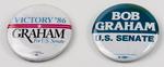 Bob Graham U.S. Senate Campaign Buttons