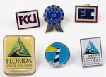 Assorted Florida State College at Jacksonville Lapel Pins