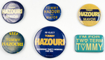 Assorted Tommy Hazouri Campaign Buttons