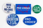 Assorted Pro-Choice Buttons