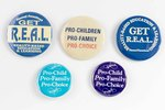 Assorted Planned Parenthood buttons