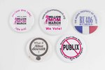 Assorted Women's, Reproductive Rights, and Gun Control buttons