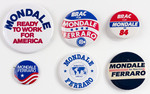 Assorted Mondale Political Buttons