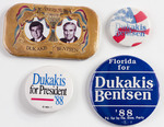 Assorted Dukakis Political Buttons
