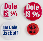 Assorted Dole Campaign Buttons