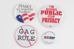 Assorted Privacy and Censorship Buttons