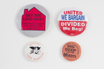 Assorted Union Support Buttons