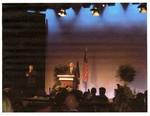 Picture of Then Senator Barack Obama giving a speech