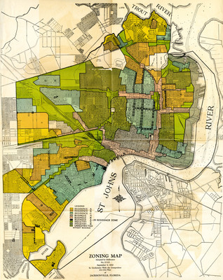 Florida Map Jacksonville.Zoning Map Of Jacksonville Fl By George W Simons Jr