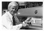 President McCray and First UNF License Plate