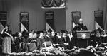 President Herbert Delivering Inaugural Speech