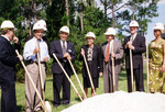 President Hopkins, Fine Arts Center Groundbreaking Ceremony