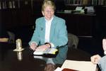 President Anne Hopkins, First Staff Meeting