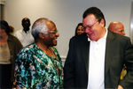 Interim President Kline and Archbishop Desmond Tutu